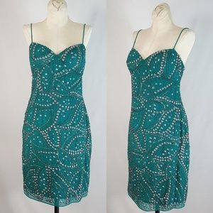 Aidan Mattox SZ 6 Beaded Embellished Dress Sheath